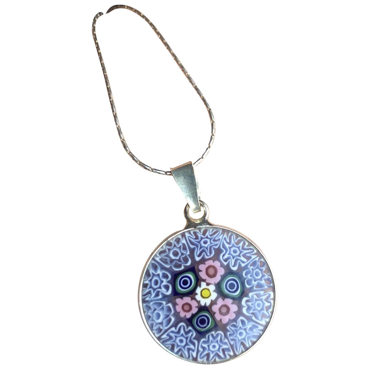 Non Signé / Unsigned \N Multicolour Silver pendant for Women \N