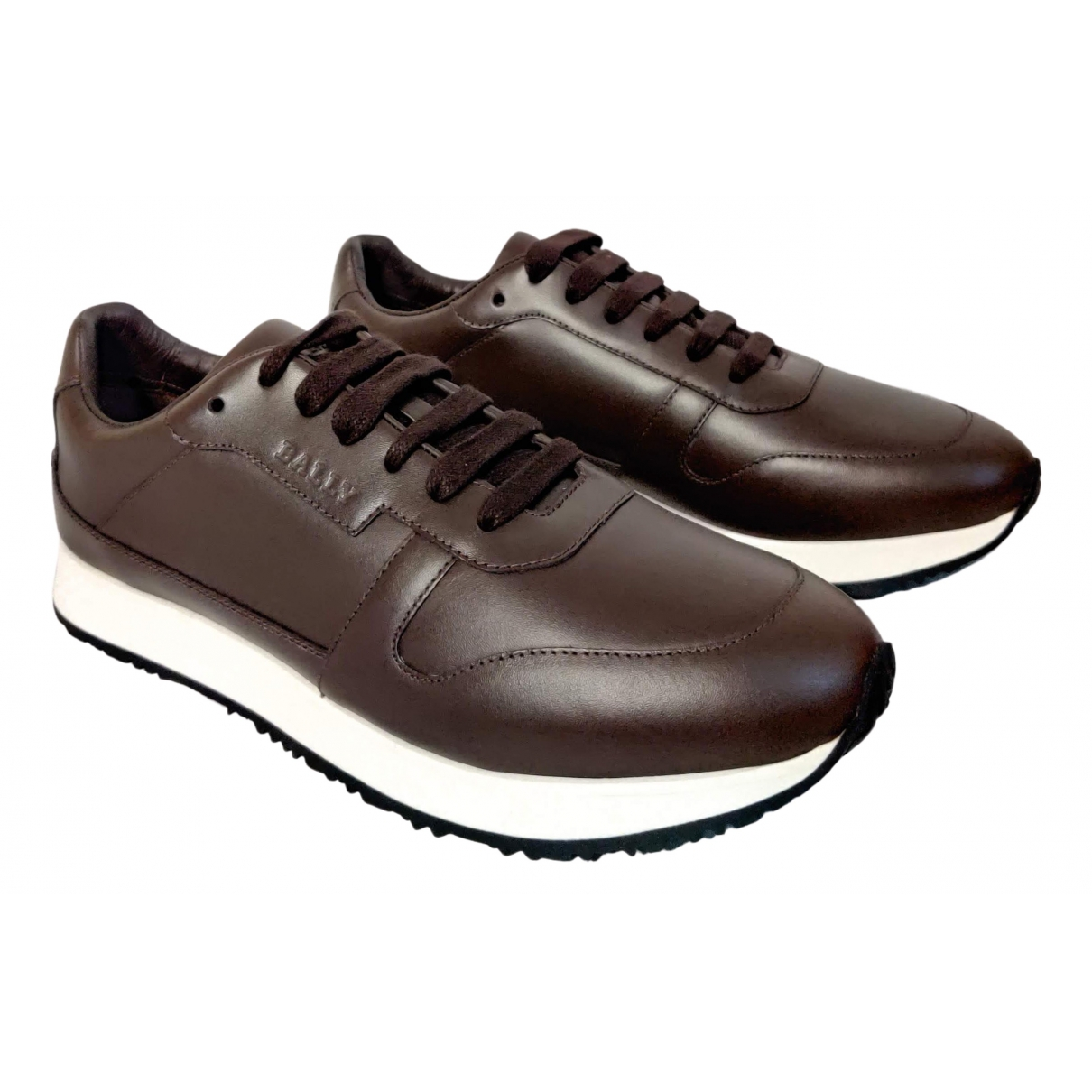 Bally \N Brown Leather Trainers for Men 41.5 EU