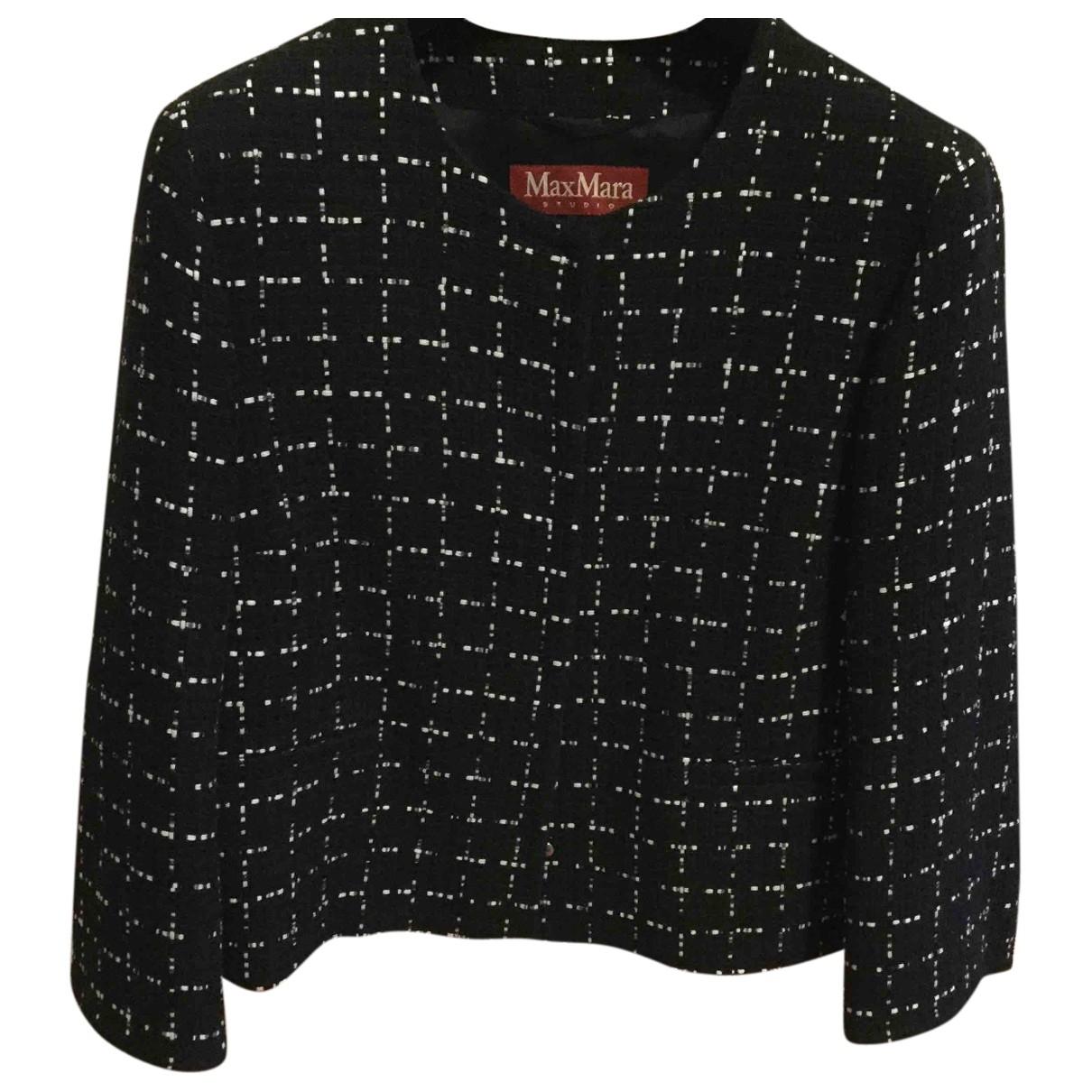 Max Mara Studio \N Black Cotton jacket for Women 46 IT