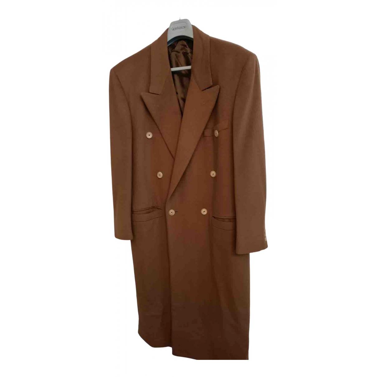 Gianni Versace - Manteau   pour homme en laine - camel
