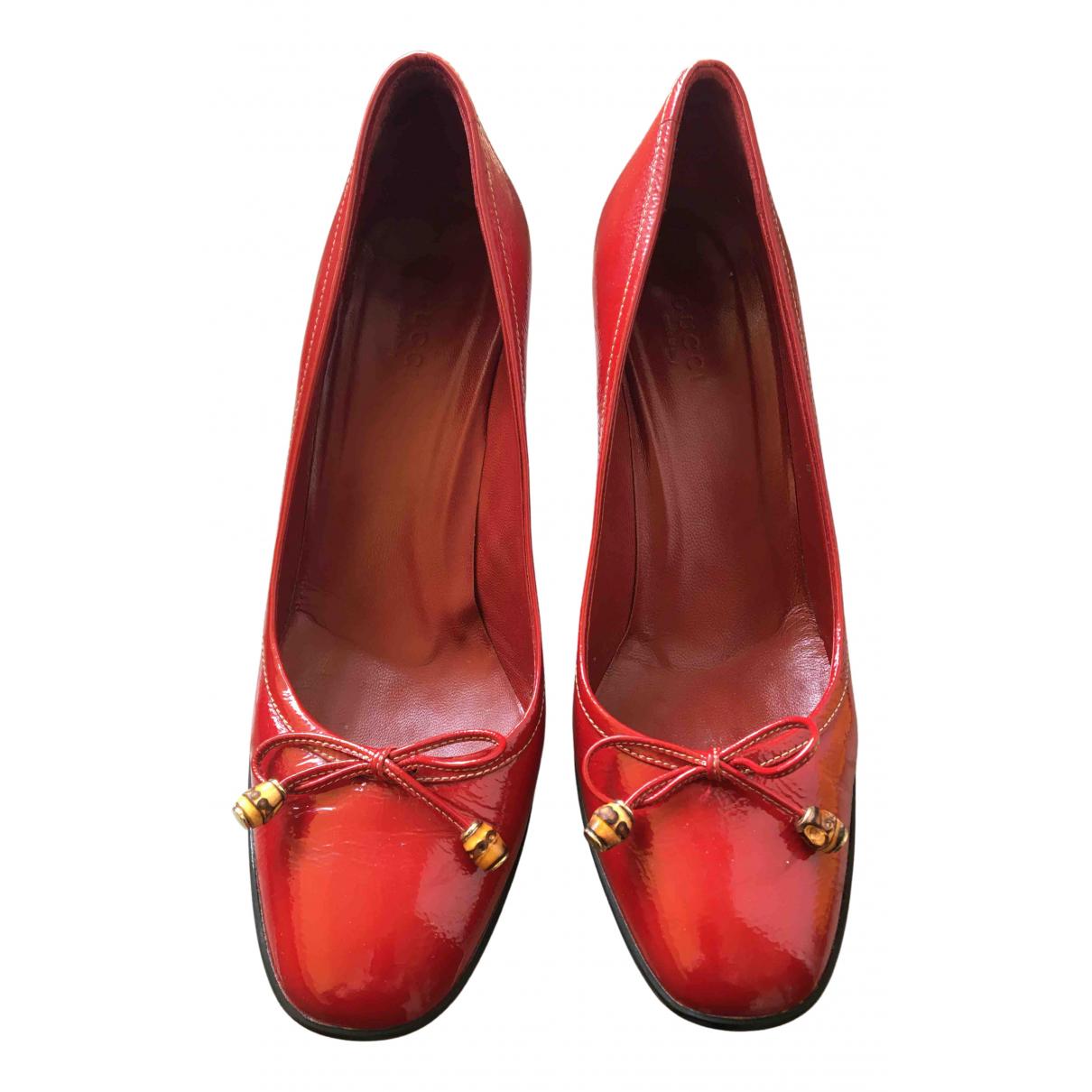 Gucci \N Ballerinas in  Rot Lackleder