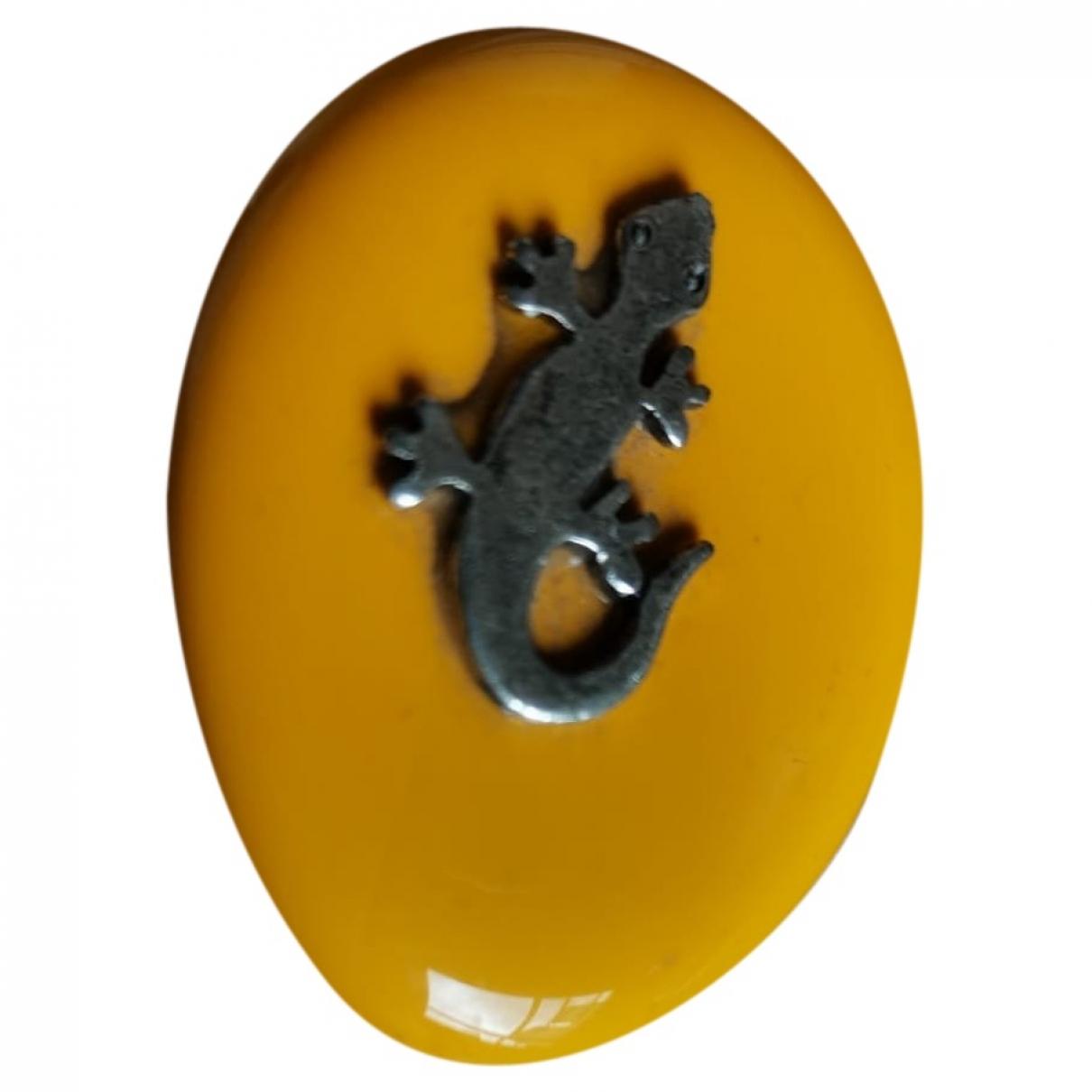 - Bague Motifs Animaliers pour femme en metal - jaune