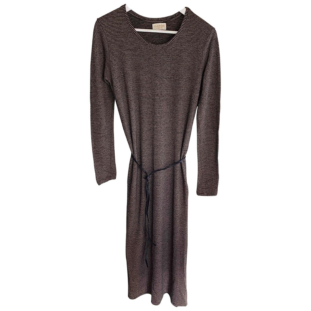 Momoni \N Kleid in  Braun Wolle