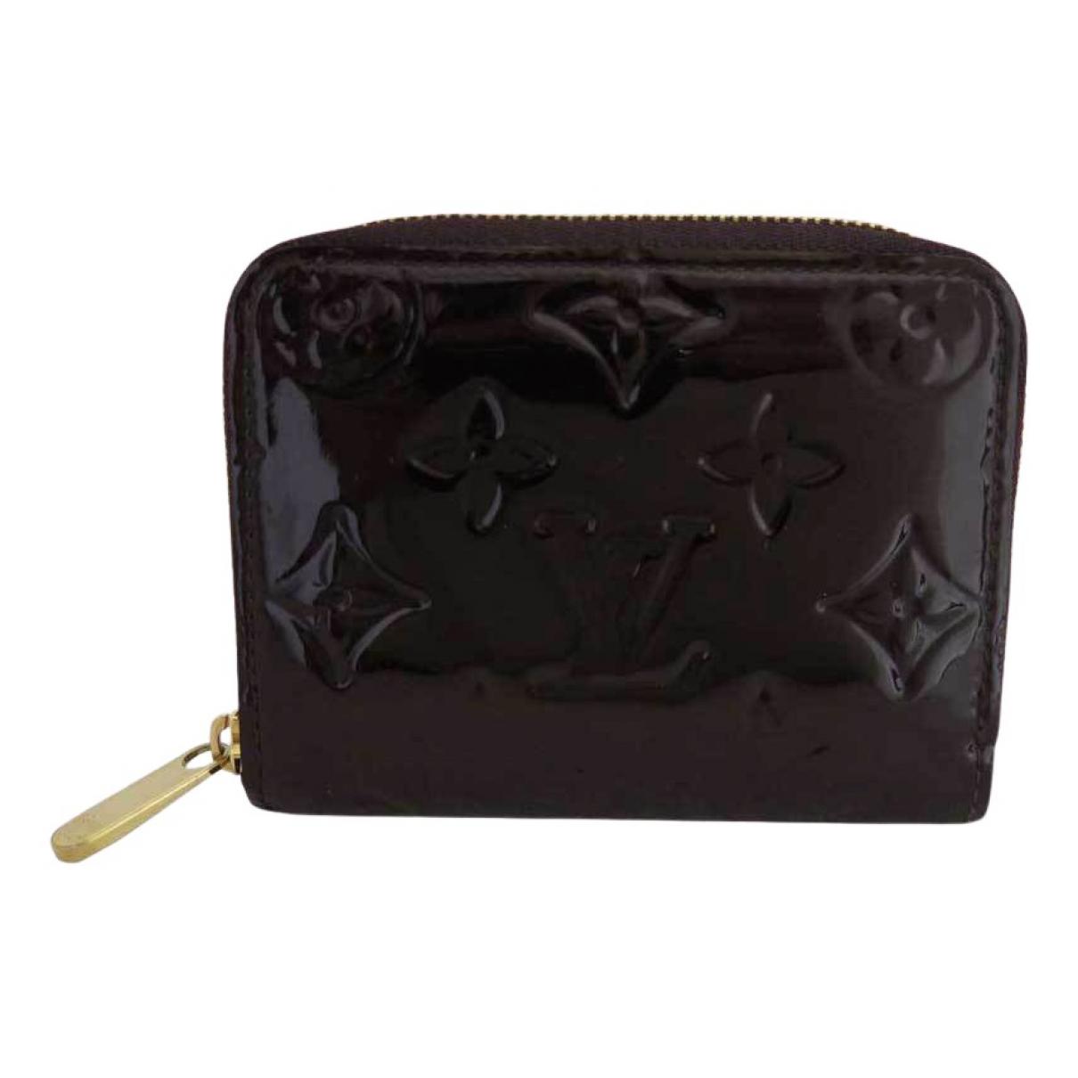 Louis Vuitton - Petite maroquinerie   pour homme en cuir verni - noir