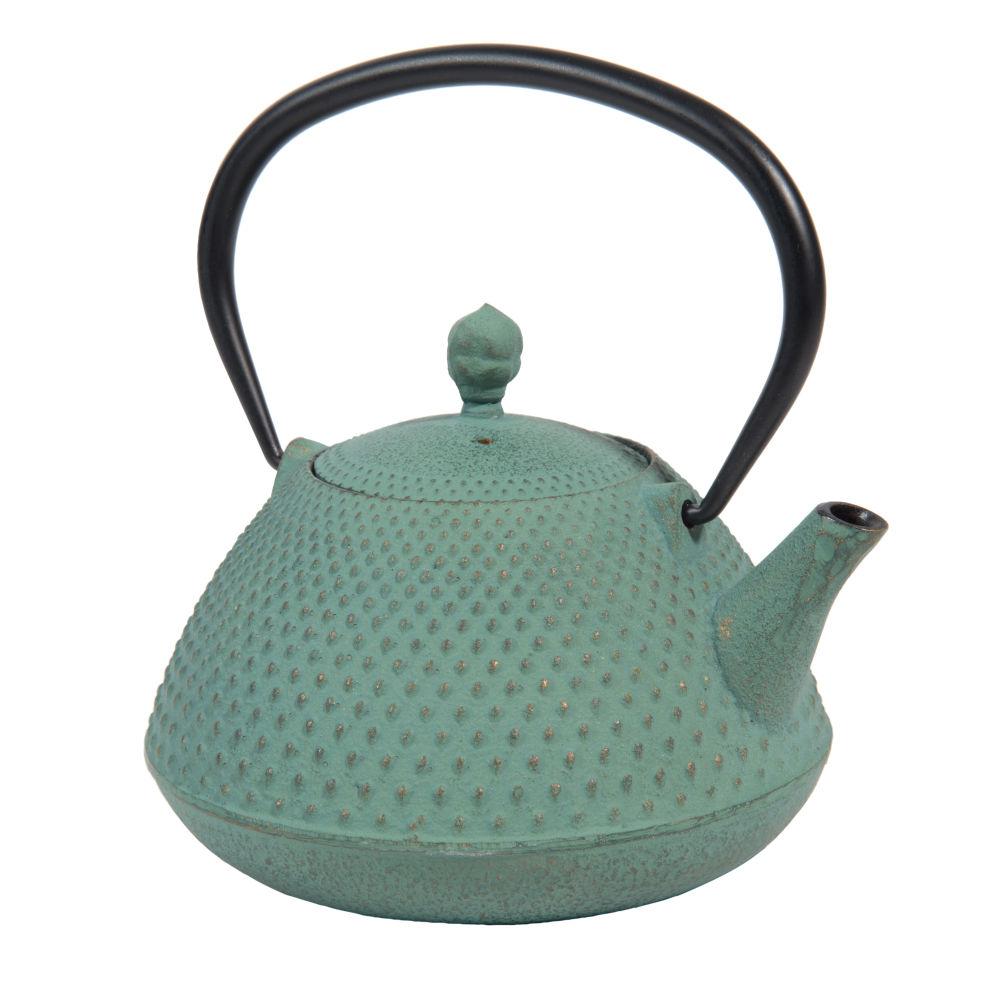 Teekanne aus Gusseisen, blau