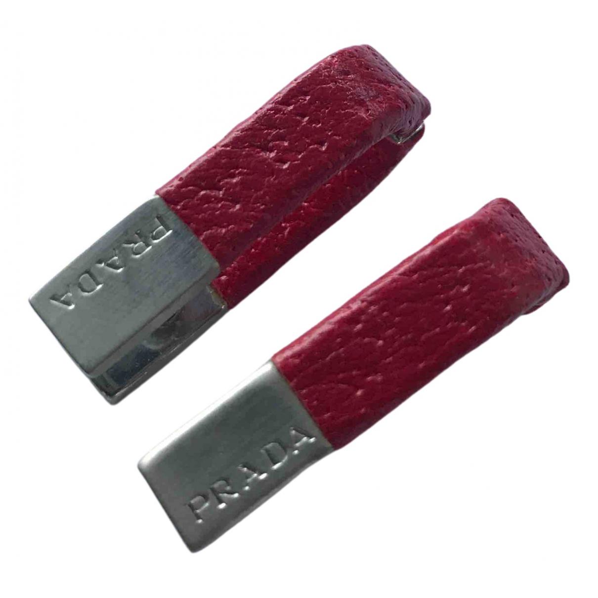 Prada - Boutons de manchette   pour homme en metal - rouge