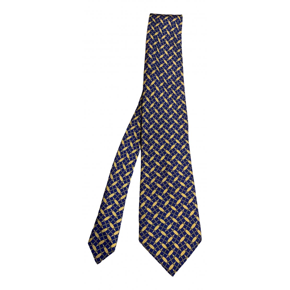 Maurice Lacroix N Blue Silk Ties for Men N