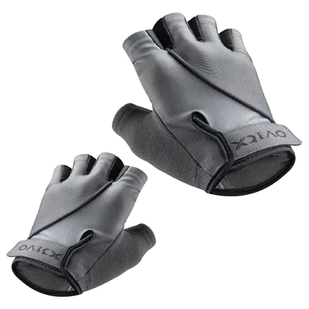 Xiaomi XQIAO Q850 Lightweight Lifting Fitness Gloves Aniti-silp Half Finger Gloves Size M - Gray
