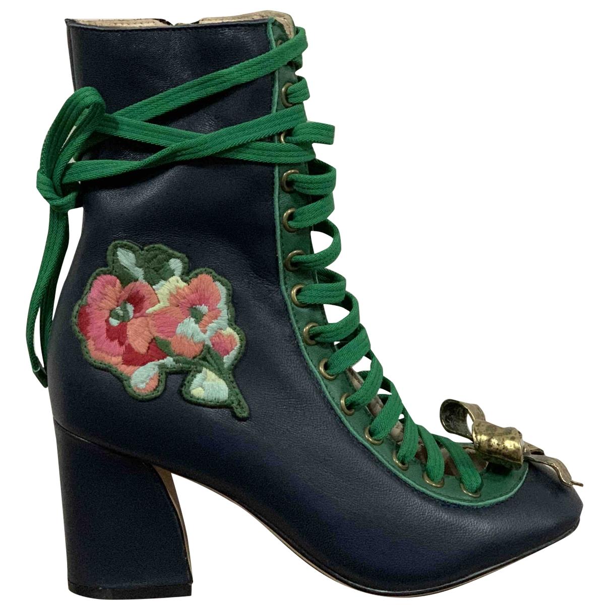 Gucci \N Stiefeletten in  Blau Leder