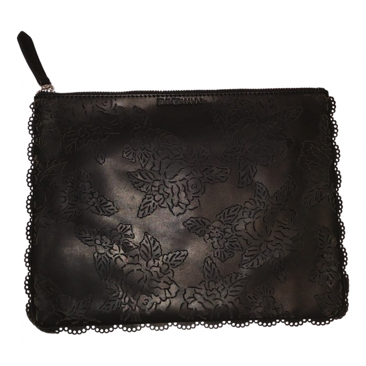 Zimmermann \N Black Leather Clutch bag for Women \N
