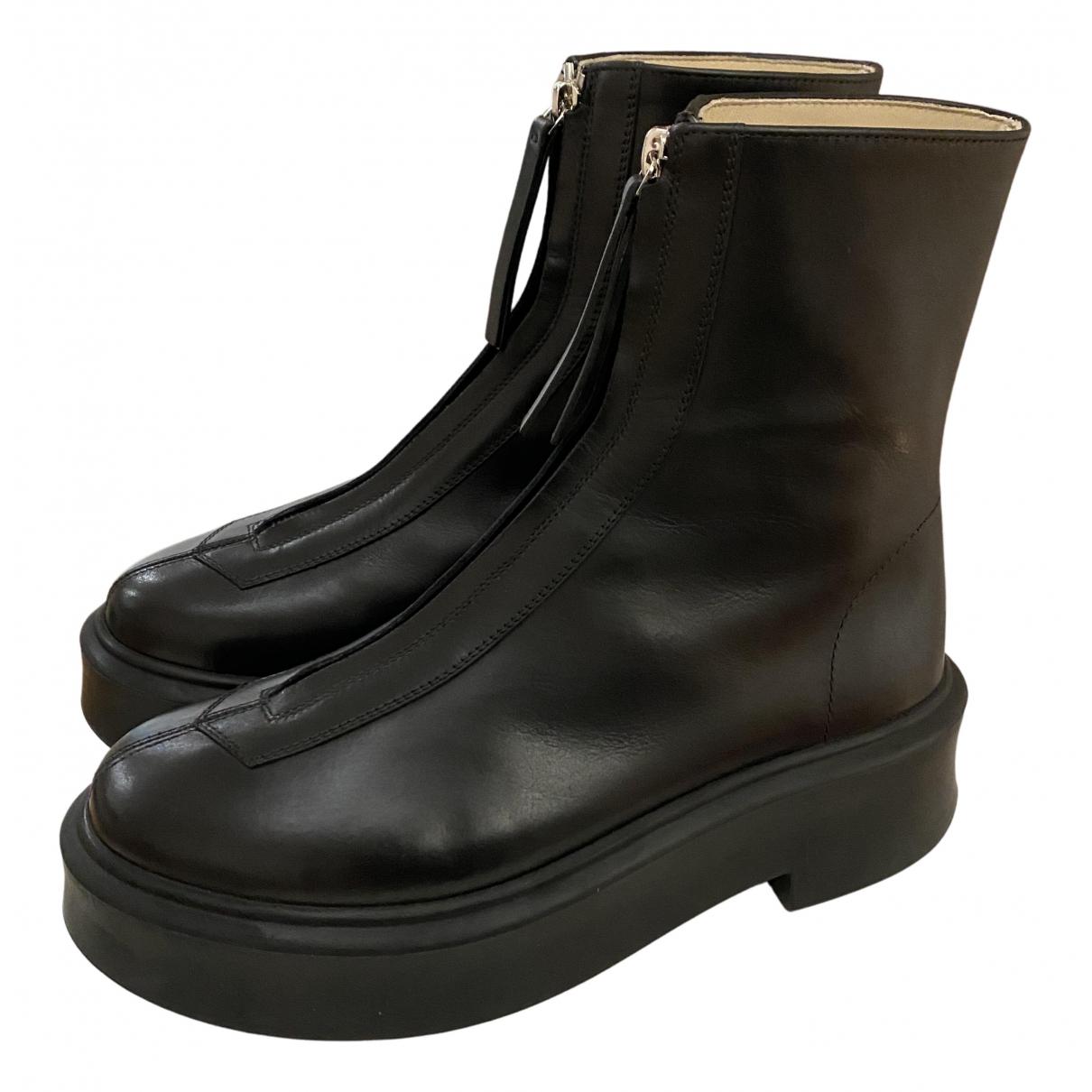 The Row - Bottes Zipped 1 pour femme en cuir - noir