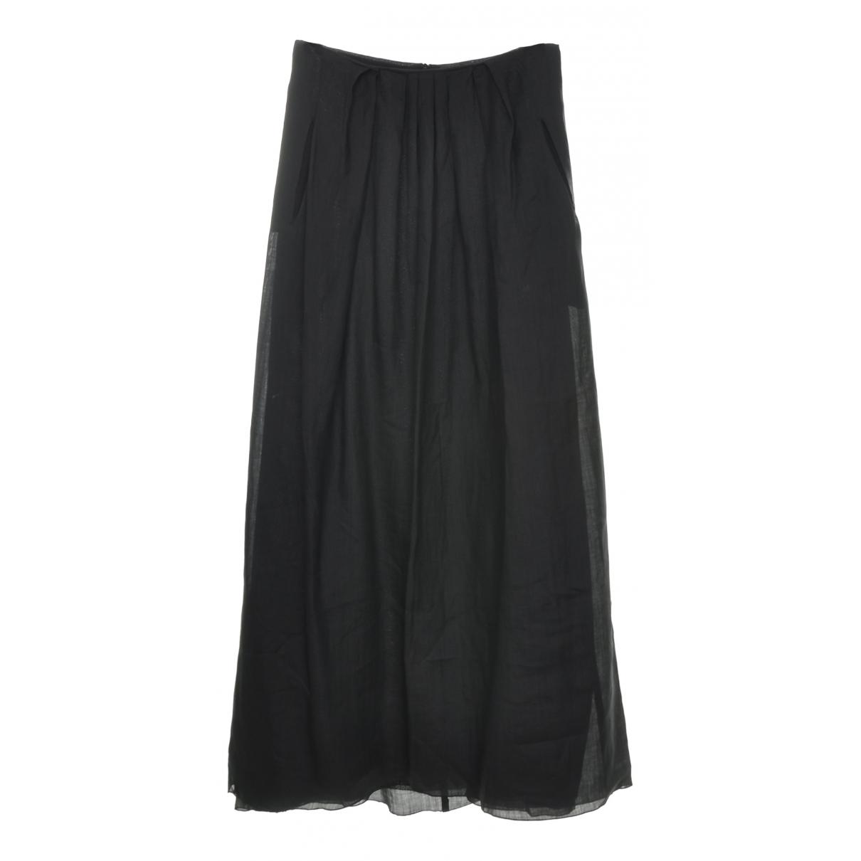 Max Mara - Jupe   pour femme en lin - noir