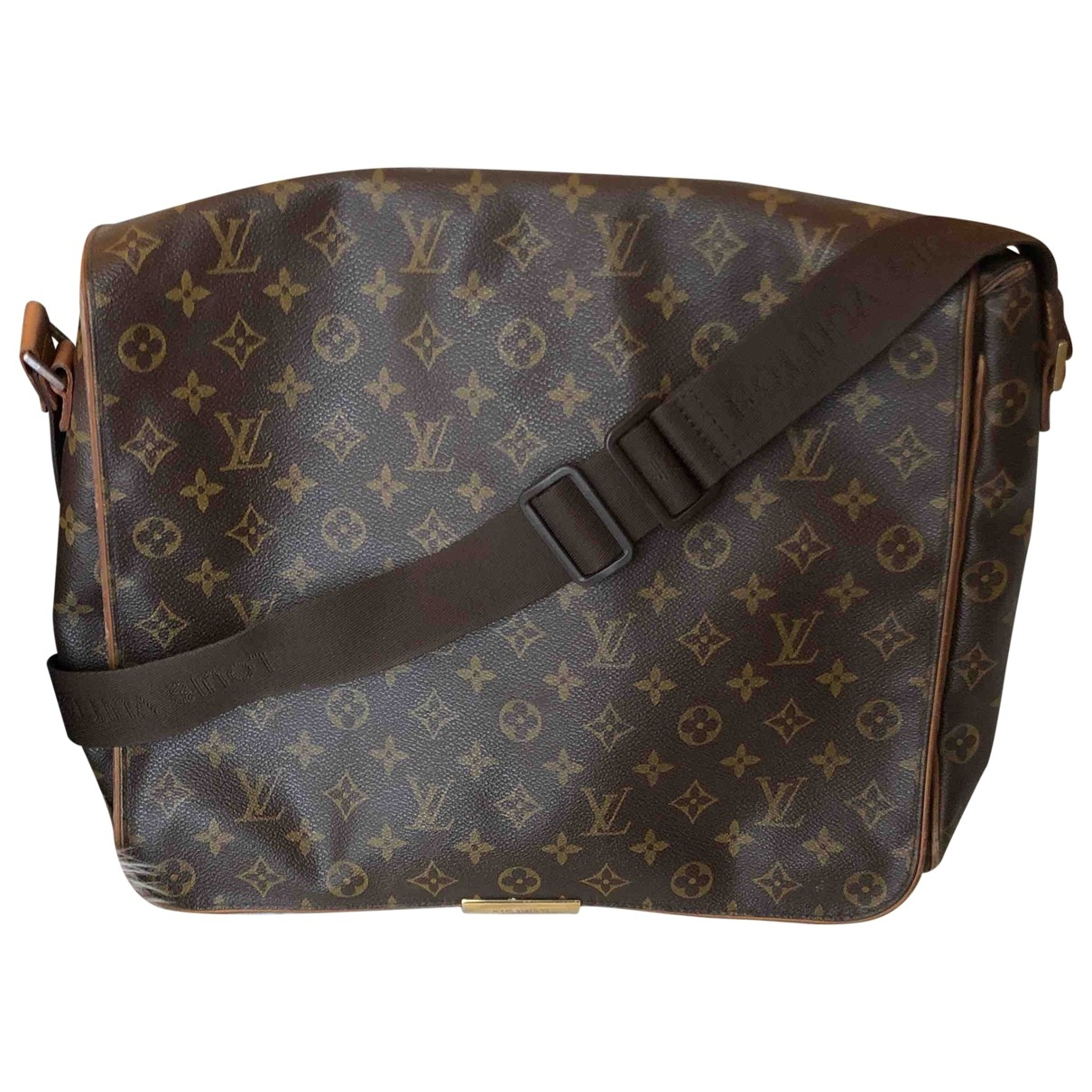 Louis Vuitton Abbesses Messenger Taschen in  Braun Leinen