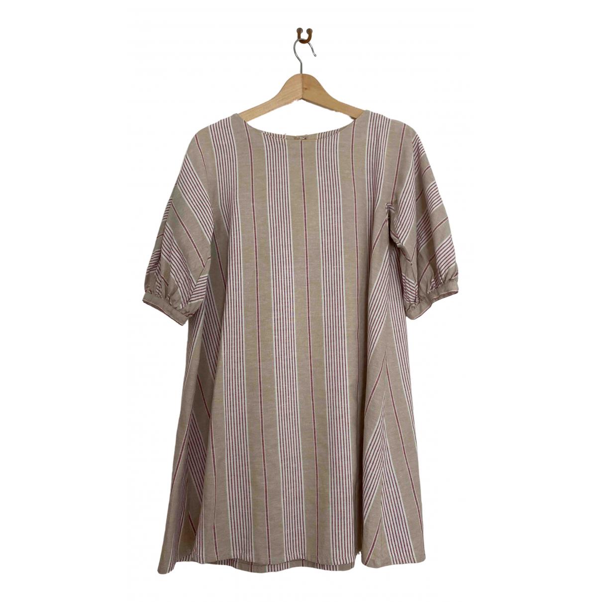 Prada \N Beige Cotton dress for Women 42 IT