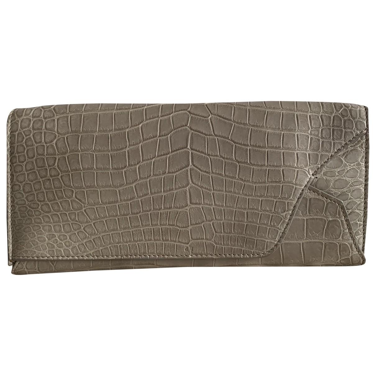 Loro Piana - Pochette   pour femme en crocodile - beige