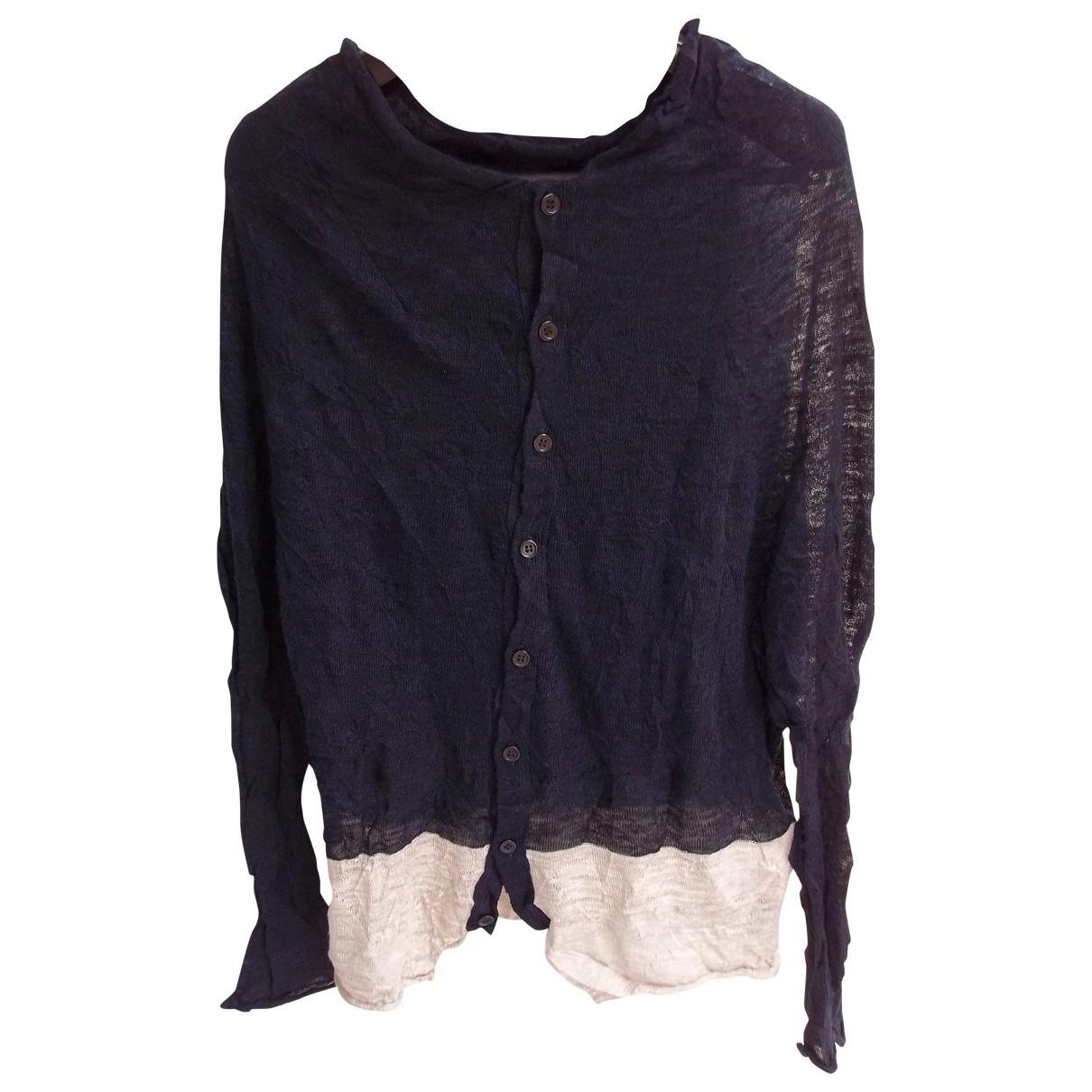 Yohji Yamamoto \N Navy Linen jacket for Women 2 0-5