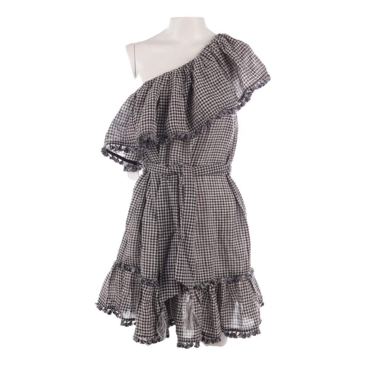 Zimmermann \N Black Linen dress for Women 34 FR