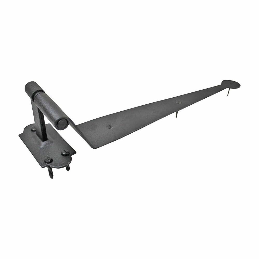 Black Iron Offset Shutter Strap Pintle Hinge 11 3/4   Renovator's Supply (Renovator's Supply)
