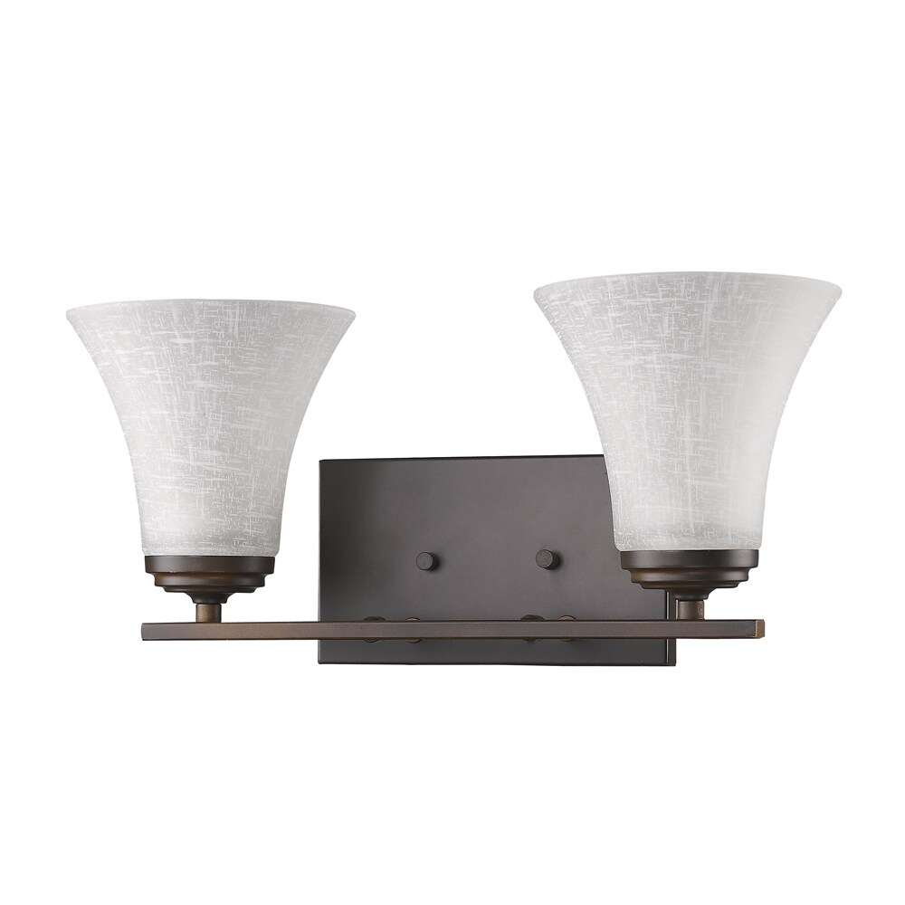Union 2-Light Oil Rubbed Bronze Bath Light (Oil Rubbed Bronze)