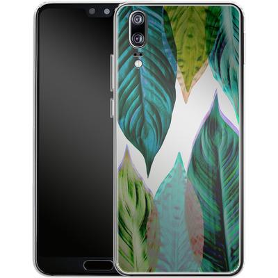 Huawei P20 Silikon Handyhuelle - Green Leaves von Mareike Bohmer