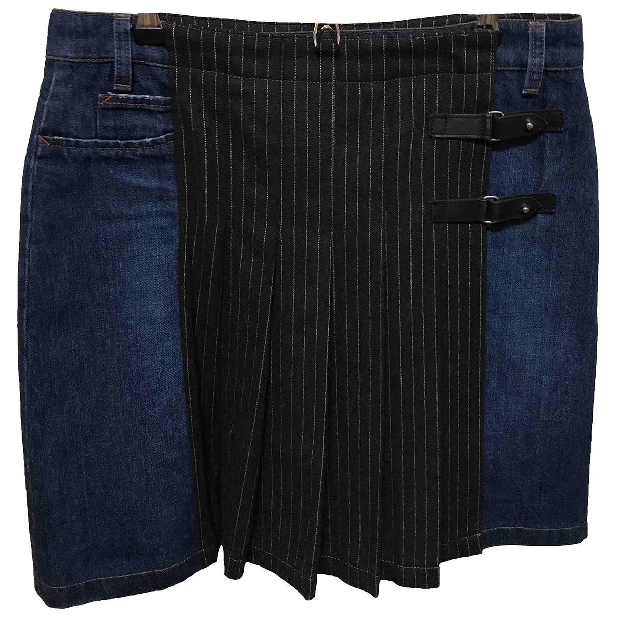 Jean Paul Gaultier - Jupe   pour femme en denim - bleu