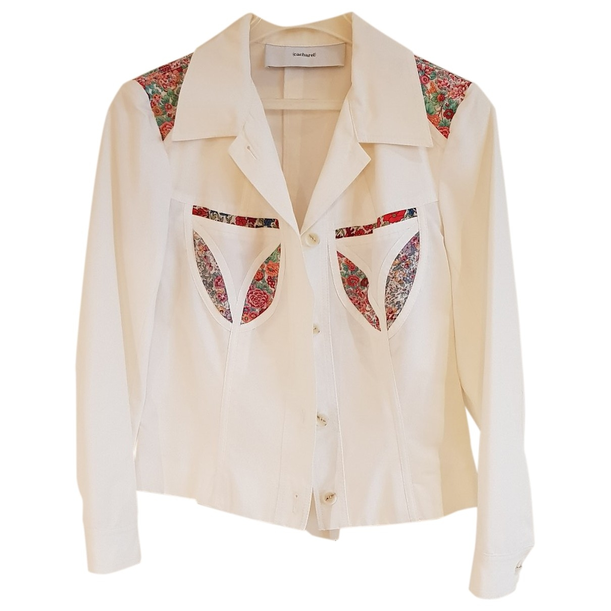 Cacharel \N White Cotton jacket for Women 38 FR