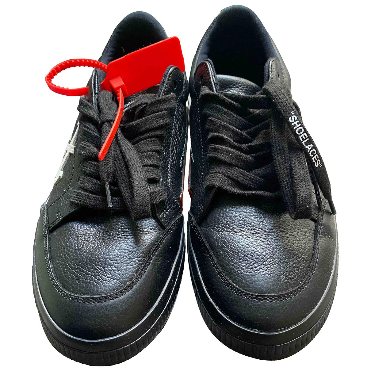 Off-white - Baskets Vulc pour homme en cuir - noir