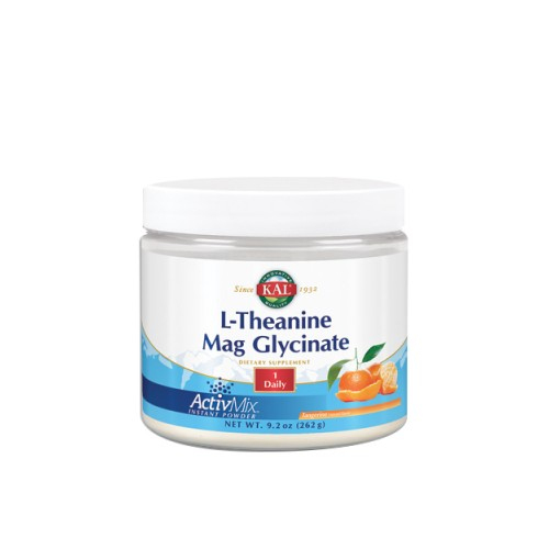 L-Theanine Mag Glycinate Tangerine 9.2 Oz by Kal