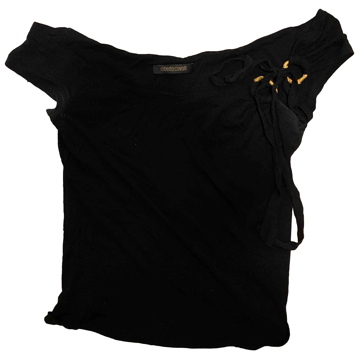 Roberto Cavalli N Black Cotton  top for Women 40 IT