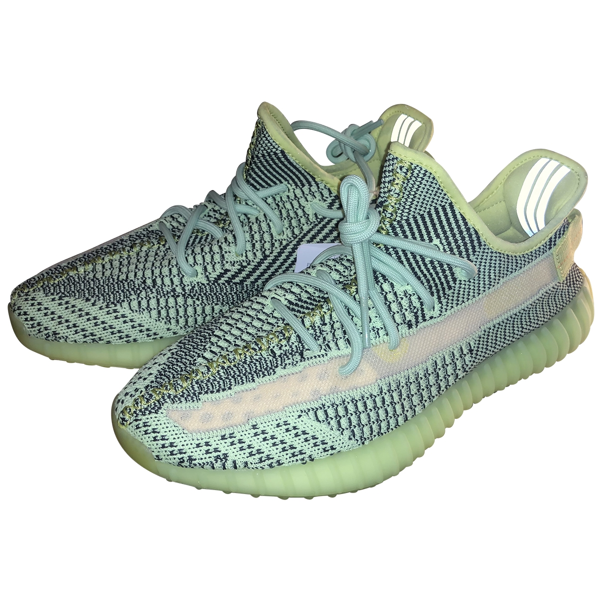 Yeezy X Adidas - Baskets Boost 350 V2 pour homme en toile - jaune