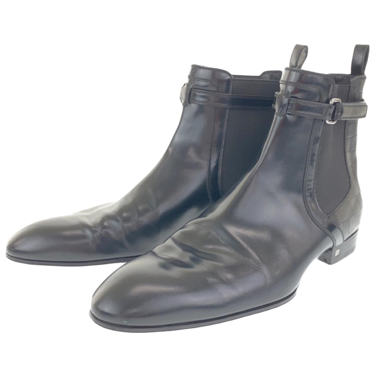 Louis Vuitton \N Stiefel in  Schwarz Leder