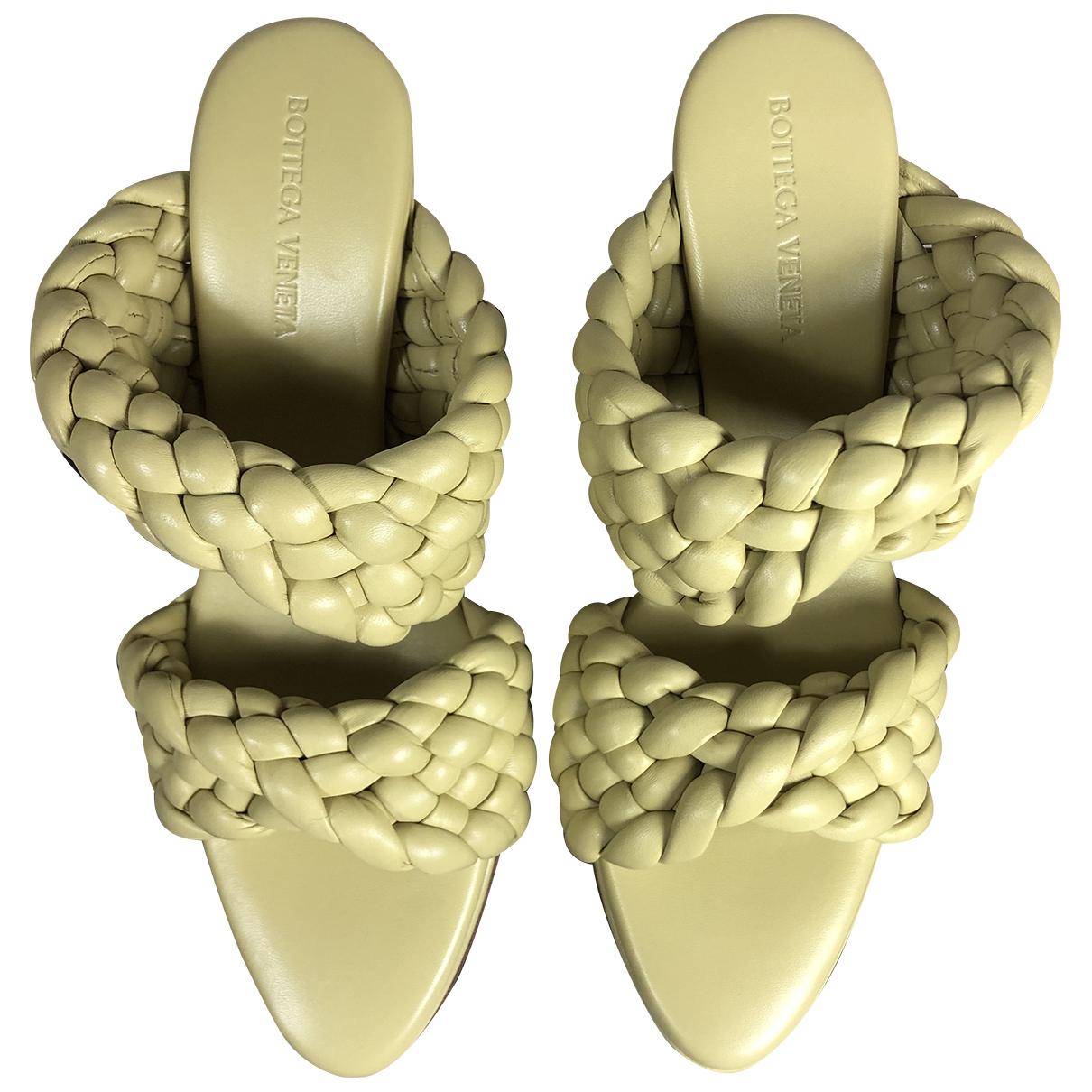 Bottega Veneta - Sandales BV Curve pour femme en cuir - beige