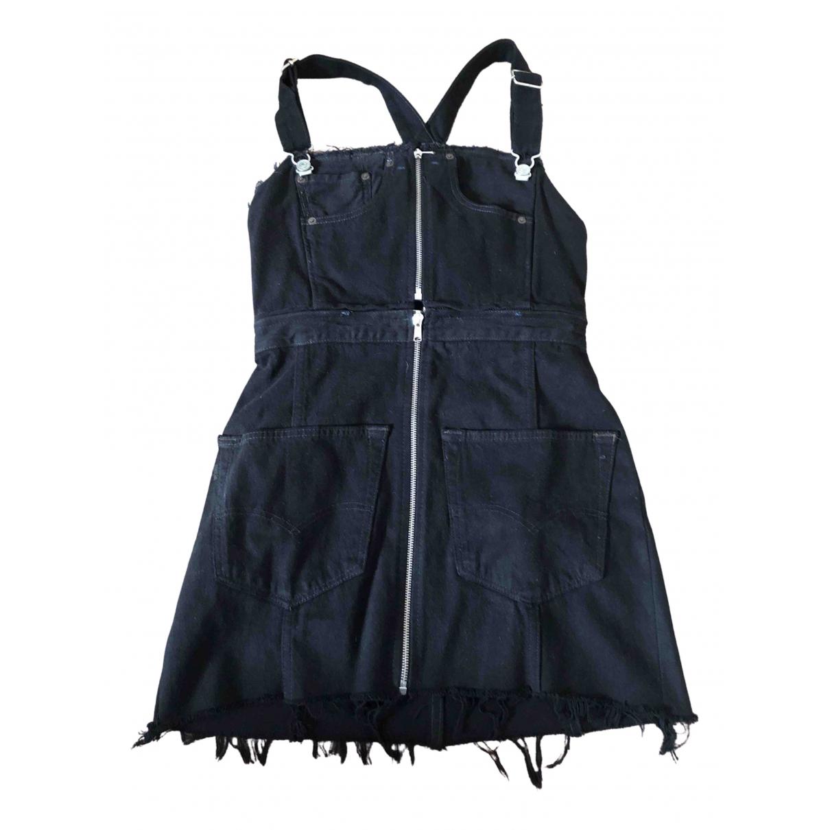 Re/done N Black Cotton dress for Women M International