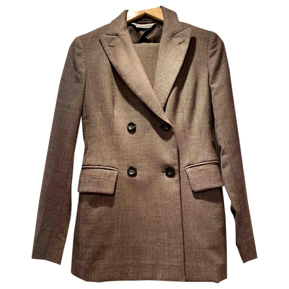 Sport Max - Veste   pour femme en laine - marron