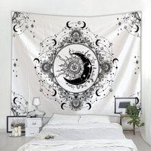Moon Print Tapestry