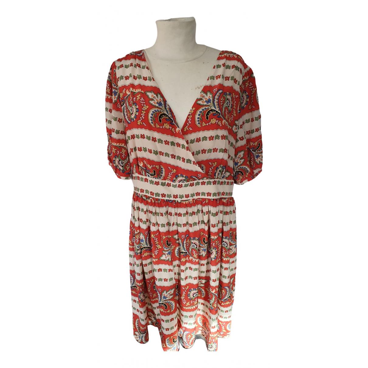Somerset \N Kleid in  Orange Seide