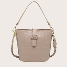 Croc Embossed Bucket Bag