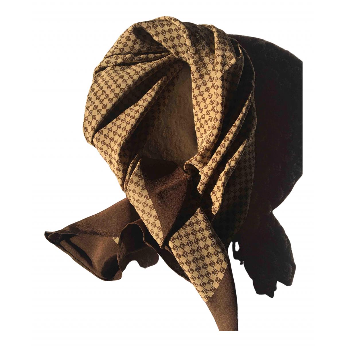 - Foulard   pour femme en soie - marron