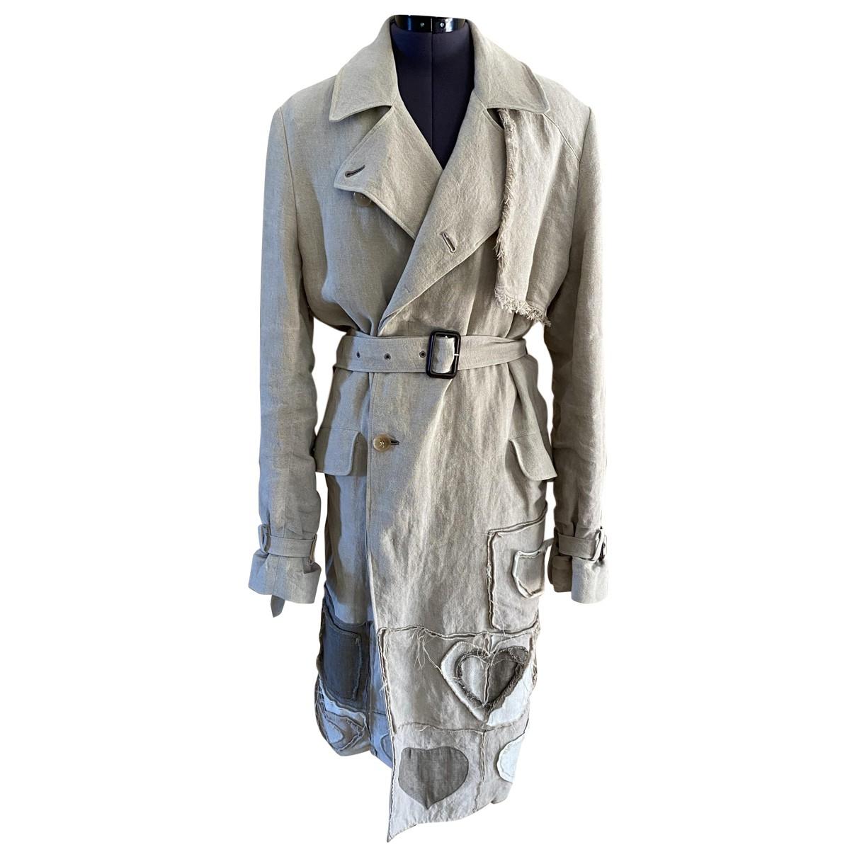 J.w. Anderson \N Beige Linen coat for Women 36 FR