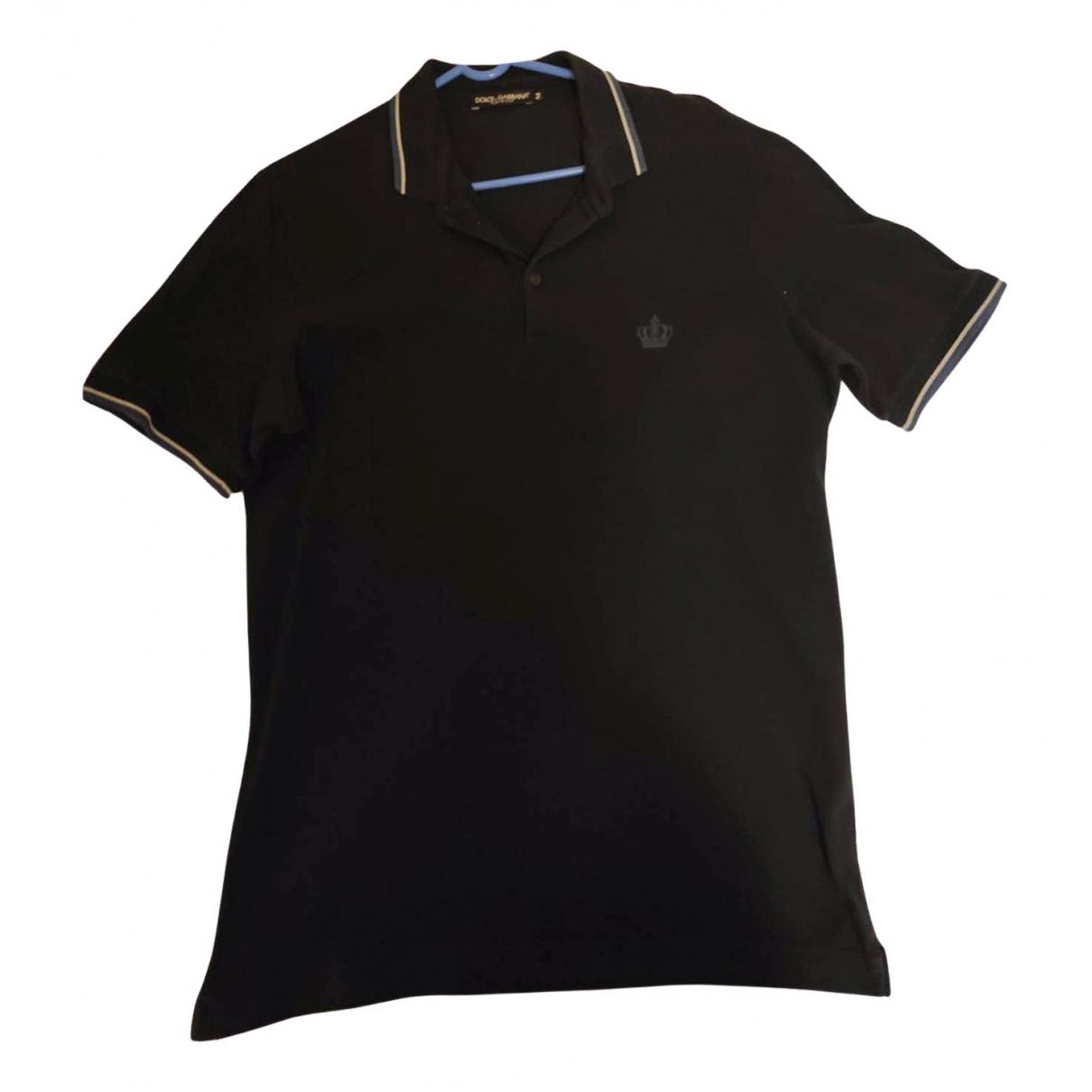 Dolce & Gabbana \N Poloshirts in  Schwarz Baumwolle