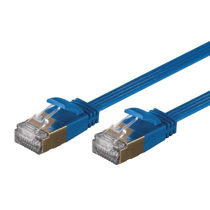 SlimRun™ Cat6A 36AWG S/STP Ethernet Patch Cable - Bleu - Monoprice® - 30ft