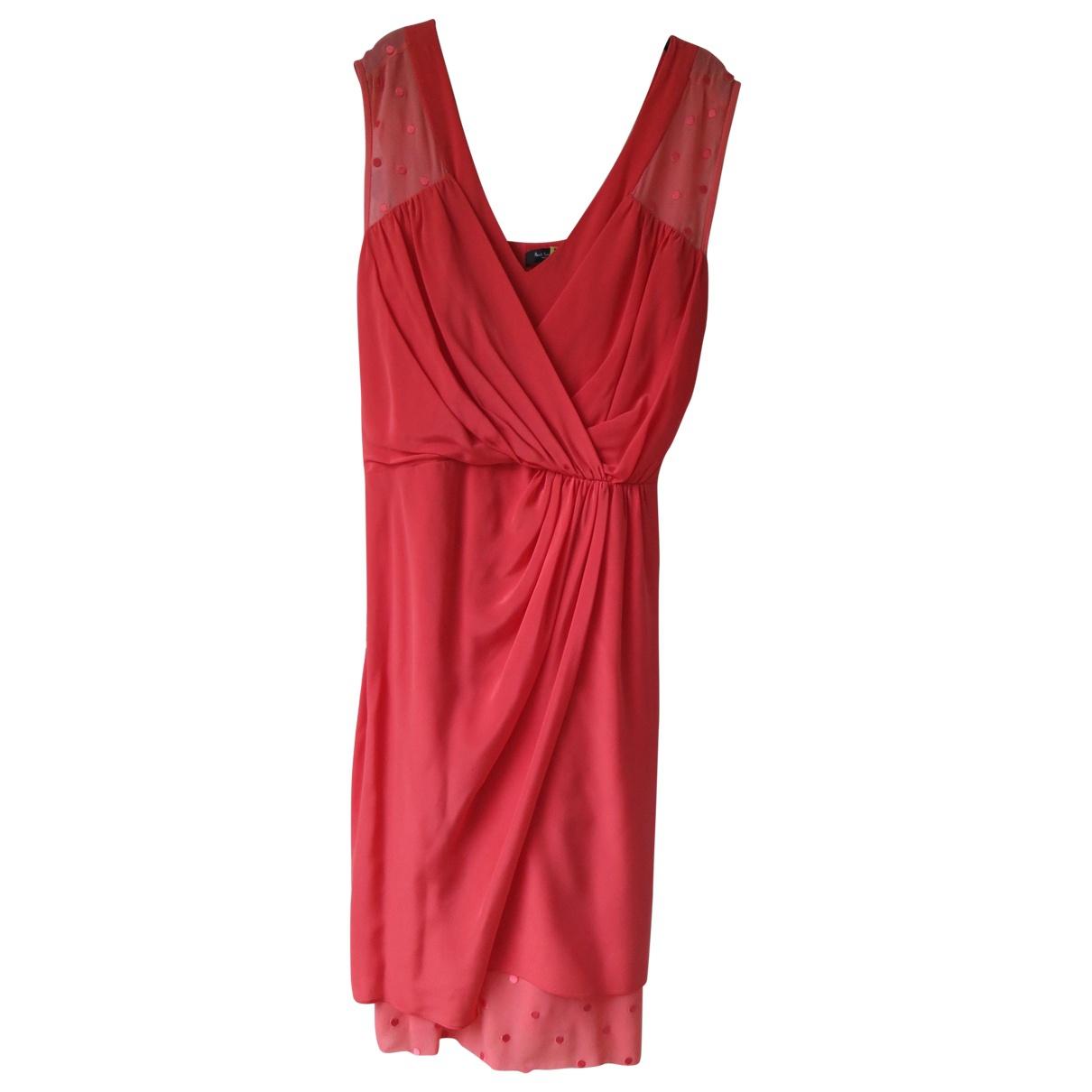 Paul Smith - Robe   pour femme en soie - rouge