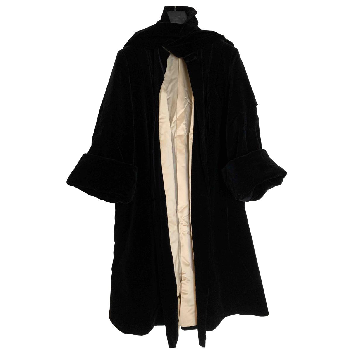 - Manteau   pour femme en velours - noir