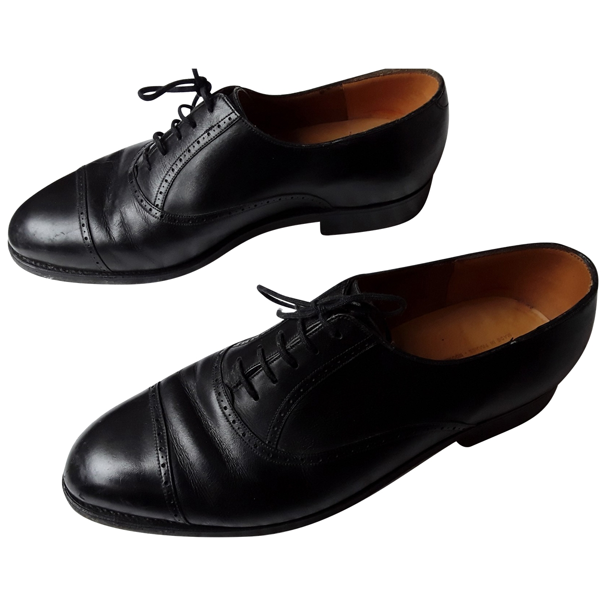 Jm Weston \N Black Leather Lace ups for Men 40 EU