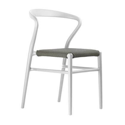 Joi TO-1524W-A Twentyfour Chair White with Anthracite Seat