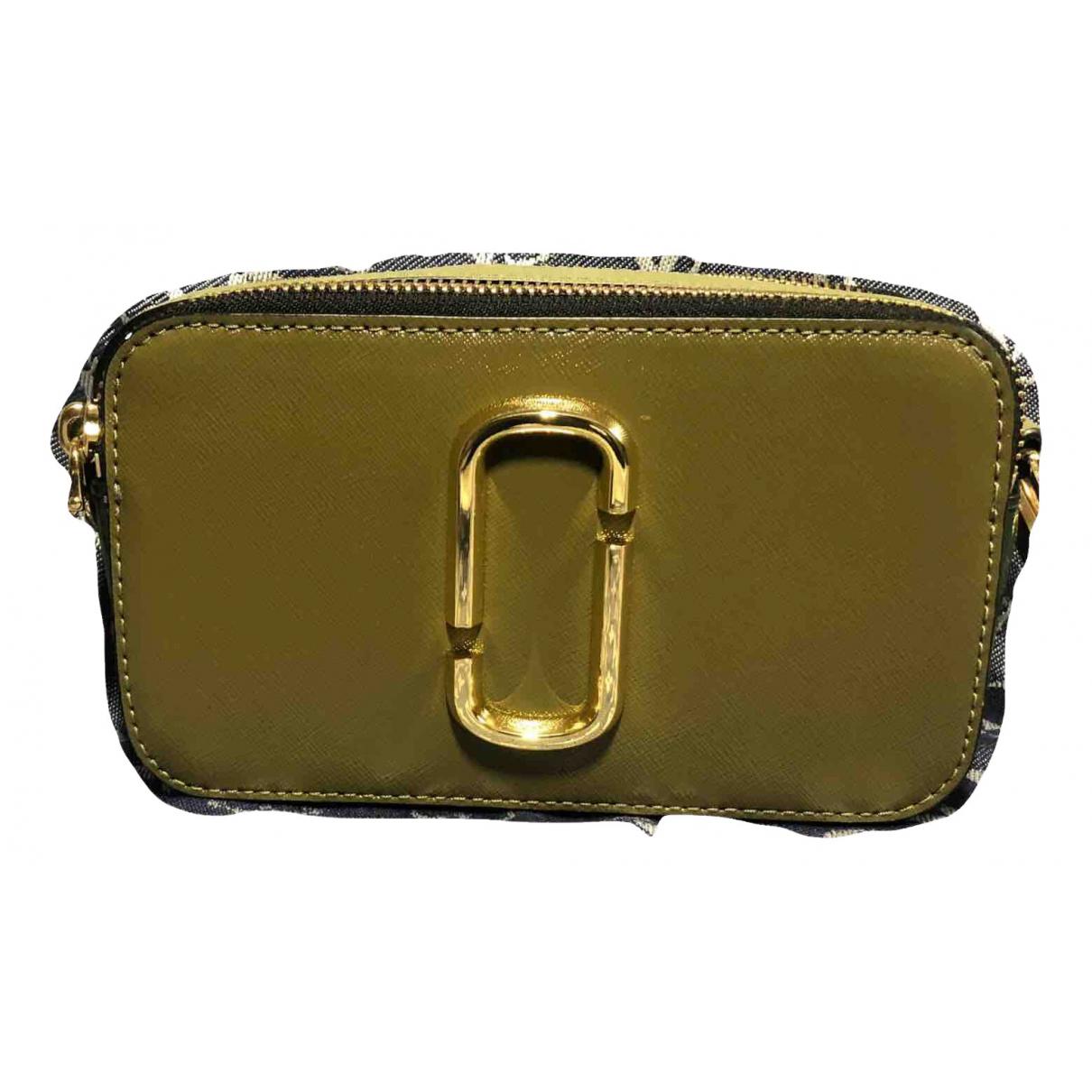 Marc Jacobs Snapshot Handtasche in  Gruen Leder