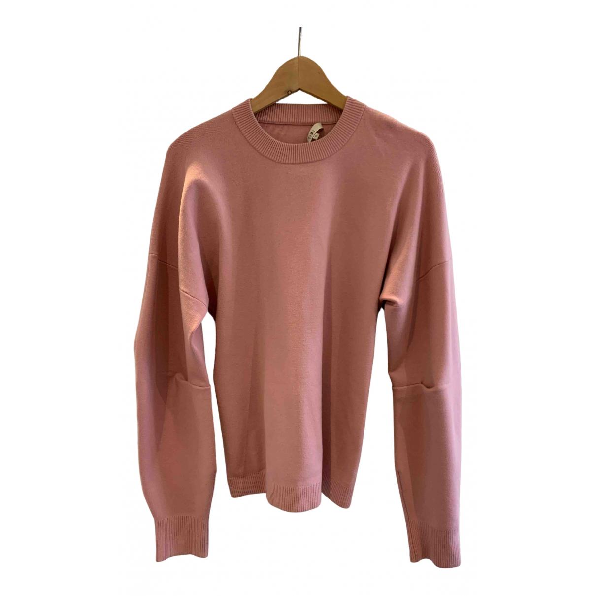 Tibi - Pull   pour femme en laine - rose