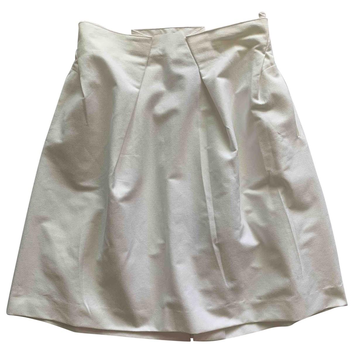Roland Mouret \N White Cotton skirt for Women 40 FR