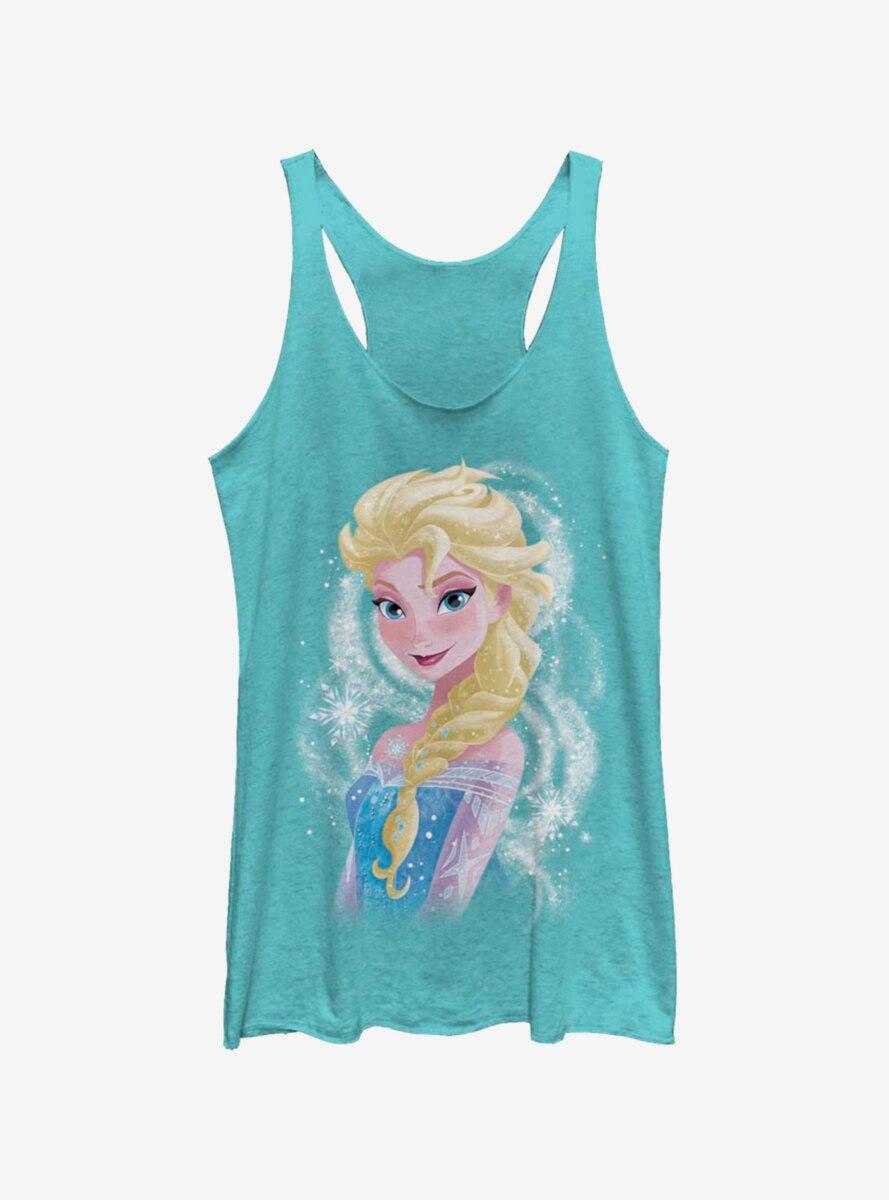 Disney Frozen Elsa Swirl Womens Tank Top