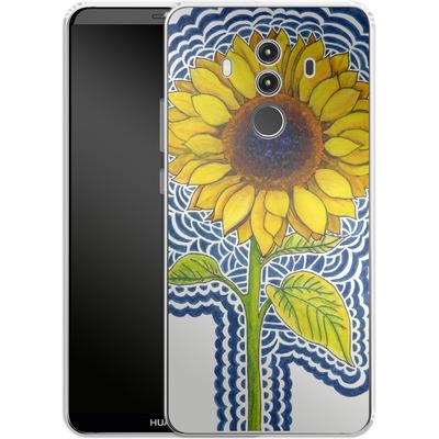 Huawei Mate 10 Pro Silikon Handyhuelle - Sunflower Drawing von Kaitlyn Parker